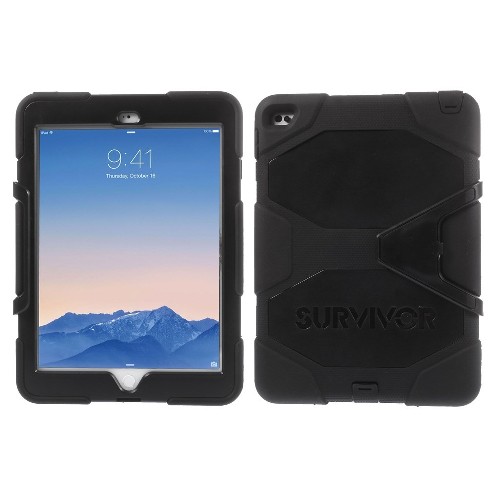 Image of   iPad Air 2 - GRIFFIN Survivor Military Hybrid cover - Sort