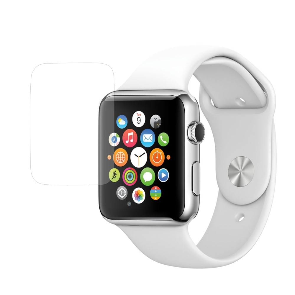 Image of   Apple Watch 42mm - Hærdet panserglas 0.3mm 9H (Arc Edge)