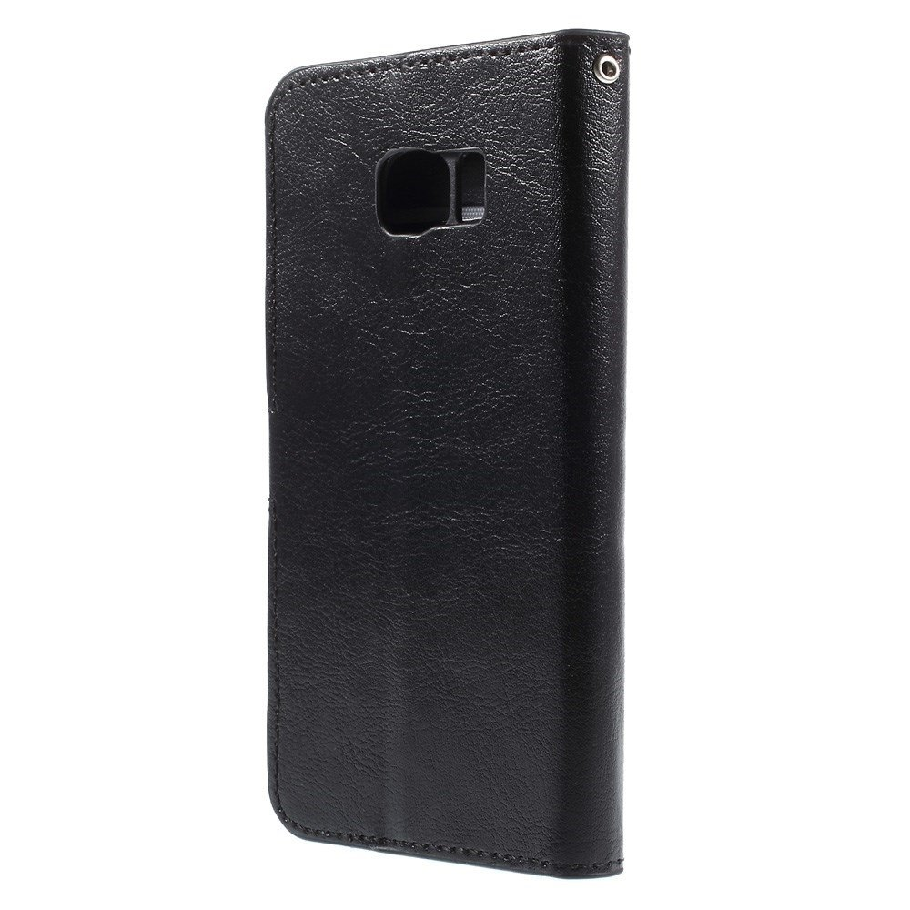 Image of   Galaxy S6 Edge - Læder cover / Etui - Sort