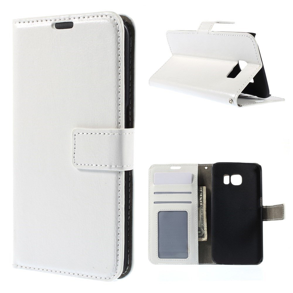 Image of   Galaxy S6 Edge - Læder cover / Etui - Hvid