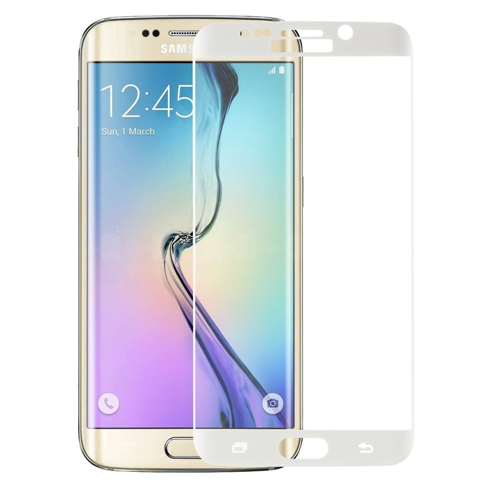 Image of   Galaxy S6 Edge - FEMA panserglas med fuld dækning - Hvid