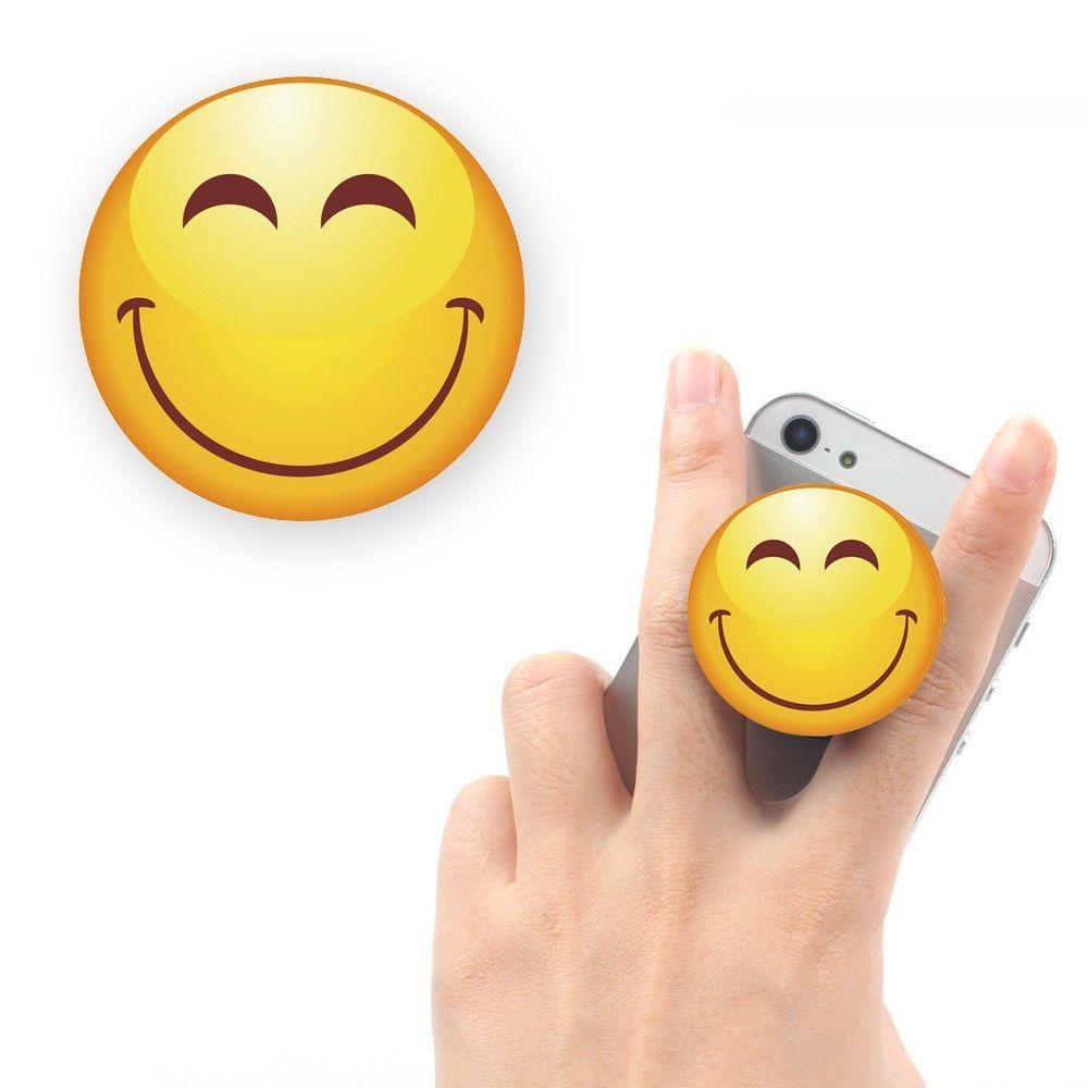 Emoji Finger Grip Holder -  Varmt smil
