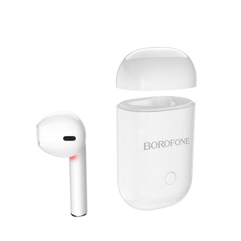 Image of   BOROFONE - True Wireless Bluetooth Single høretelefon m/Opladerbox - Hvid