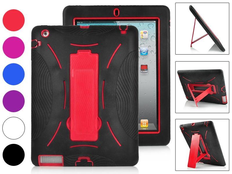 Image of   iPad 2/3/4 - Hybrid Defender hardcover - Rød