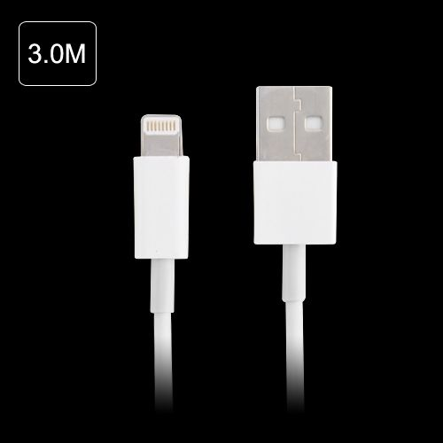 Image of   Lightning til USB-kabel (3 m) oplader kabel iphone, iPad, iPod