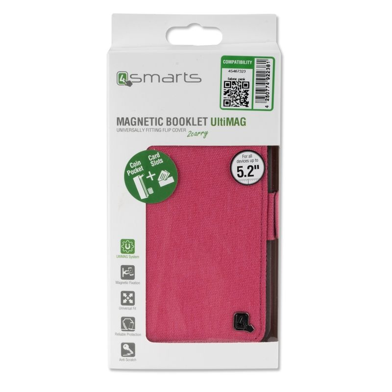 "Image of   4smarts UltiMAG LANEWAY Fabric universal cover 5.2"" - Pink"