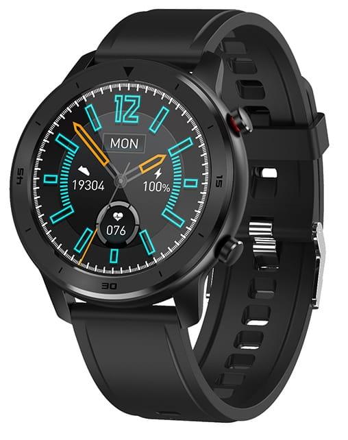 Smartwatch 5S - Bluetooth - Vandtæt - Puls - Blodtryk - Sportsmodes - Kalorier - Fitness Tracker - Silikone urrem - Sort