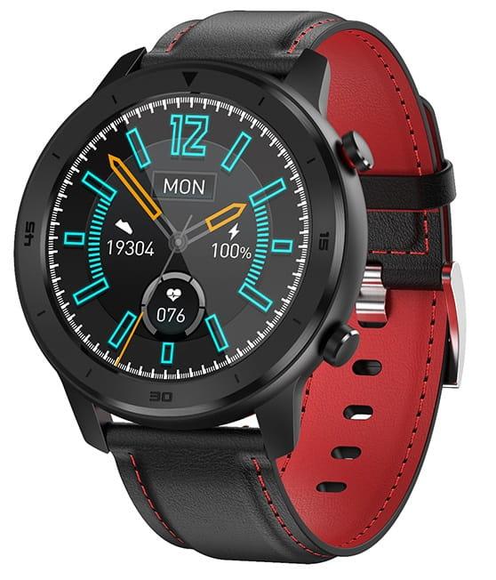 Smartwatch 5S - Bluetooth - Vandtæt - Puls - Blodtryk - Sportsmodes - Kalorier - Fitness Tracker - Sort/rød