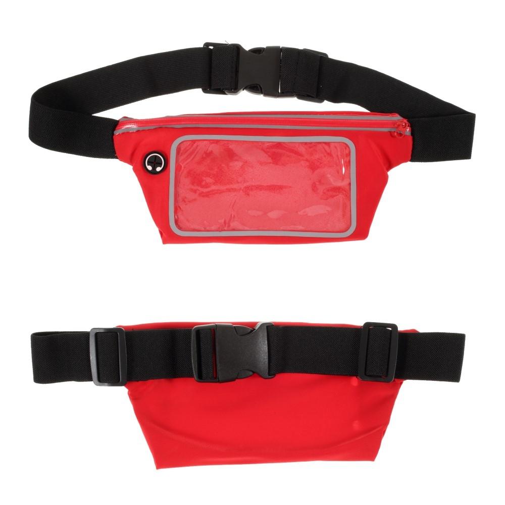 Billede af Bæltetaske med lomme til iPhone/smartphone op til 160mm - Touch skærm - Vandtæt - Rød