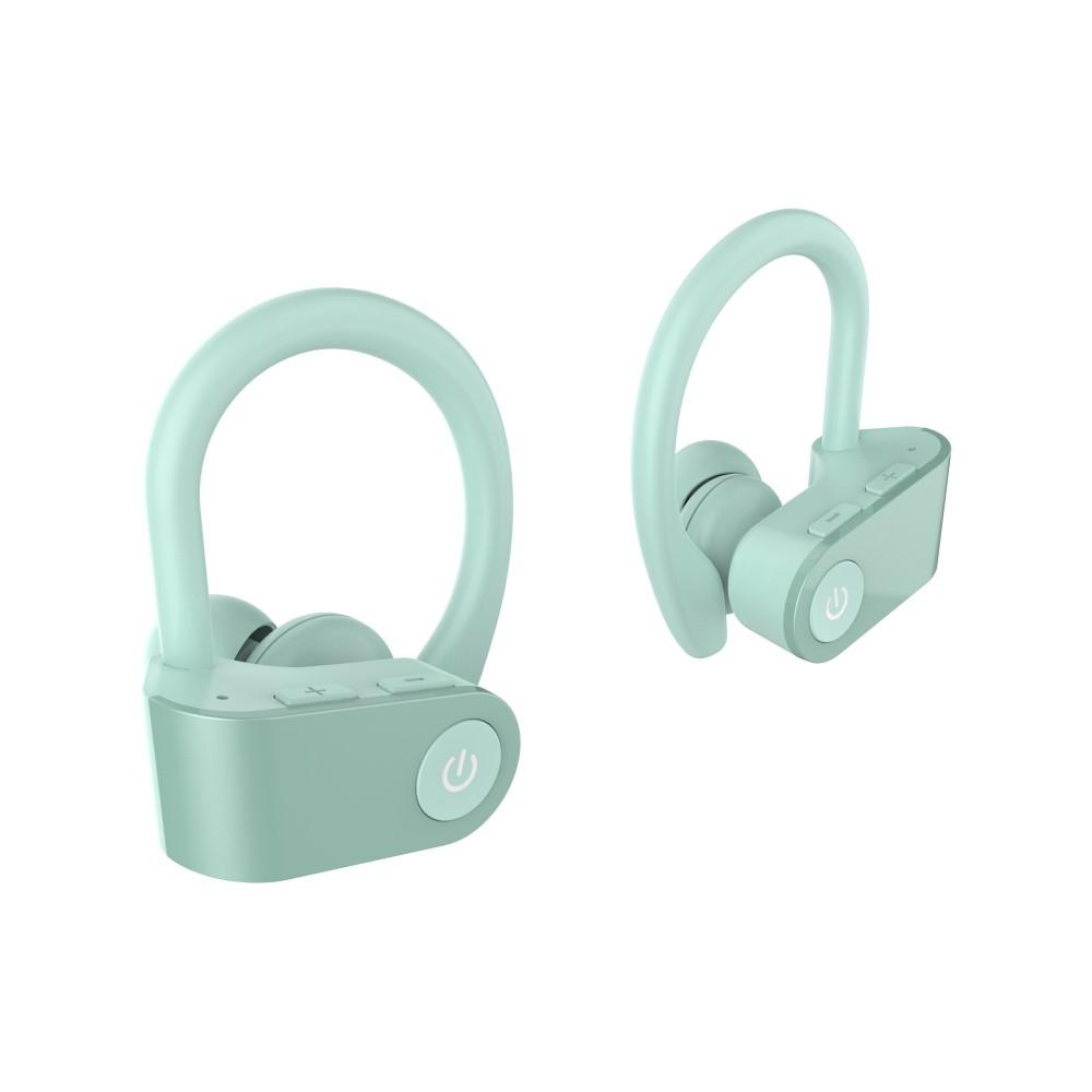 Billede af TWS03 HIFI Bluetooth Sports Høretefoner / Headset - 6D Suround Sound - 9 TIMERS batteritid - Grøn