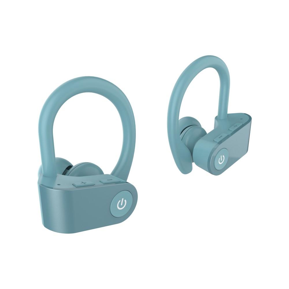Billede af TWS03 HIFI Bluetooth Sports Høretefoner / Headset - 6D Suround Sound - 9 TIMERS batteritid - Cyan