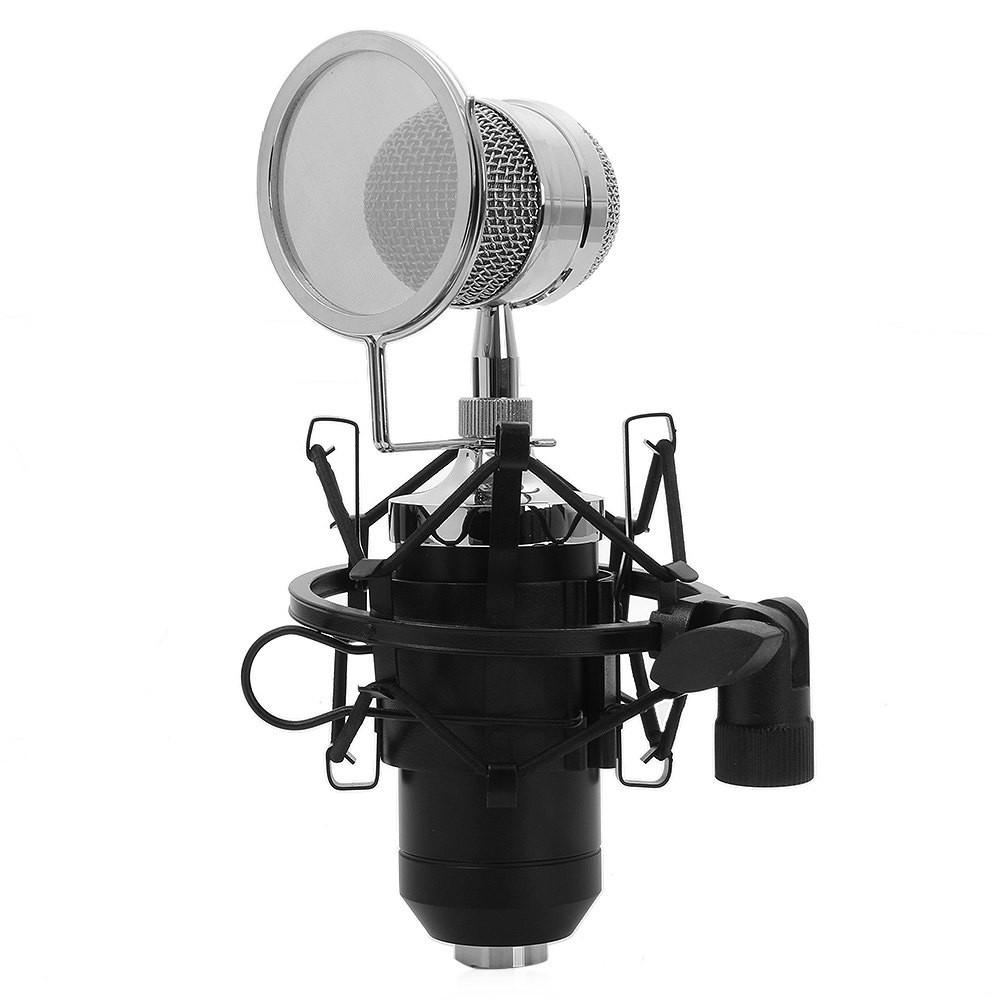 BM-8000 kondensator mikrofon – 3.5mm stik – Med holder – Til karaoke / musik / Pc mikrofon