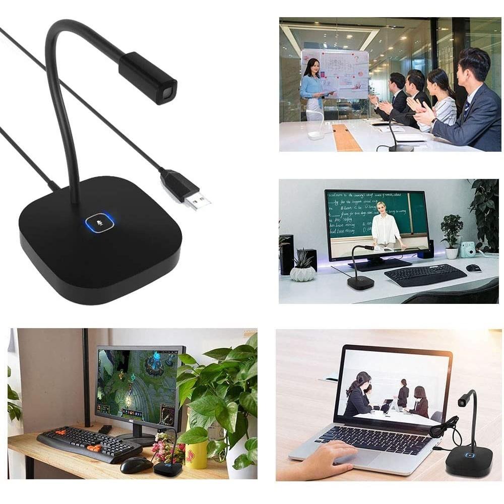 YANMAI – Desktop mikrofon – USB tilslutning – Til møder, præsentation, PC – Sort