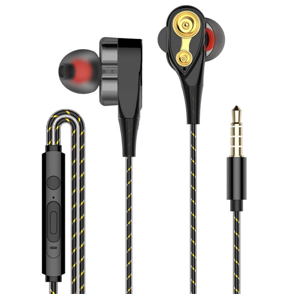 Billede af DB DRIVER - In-Ear Høretelefoner med 3.5mm audio kabel - Mikrofon & kontrolpanel - Sort