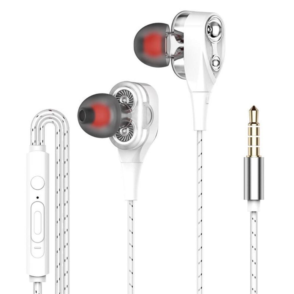 Billede af DB DRIVER - In-Ear Høretelefoner med 3.5mm audio kabel - Mikrofon & kontrolpanel - Sølv