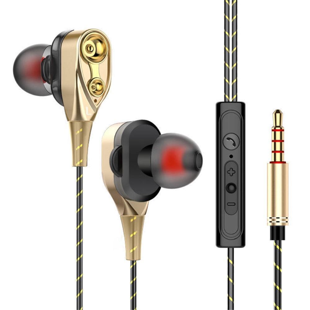 Billede af DB DRIVER - In-Ear Høretelefoner med 3.5mm audio kabel - Mikrofon & kontrolpanel - Guld