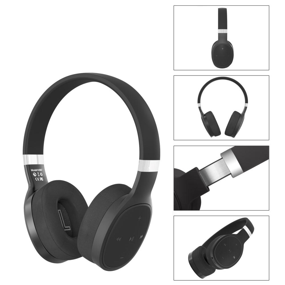 Billede af SHOCK BASS - Trådløse Hørebøffer/høretelefoner - Mikrofon & Kontrolpanel - Sort