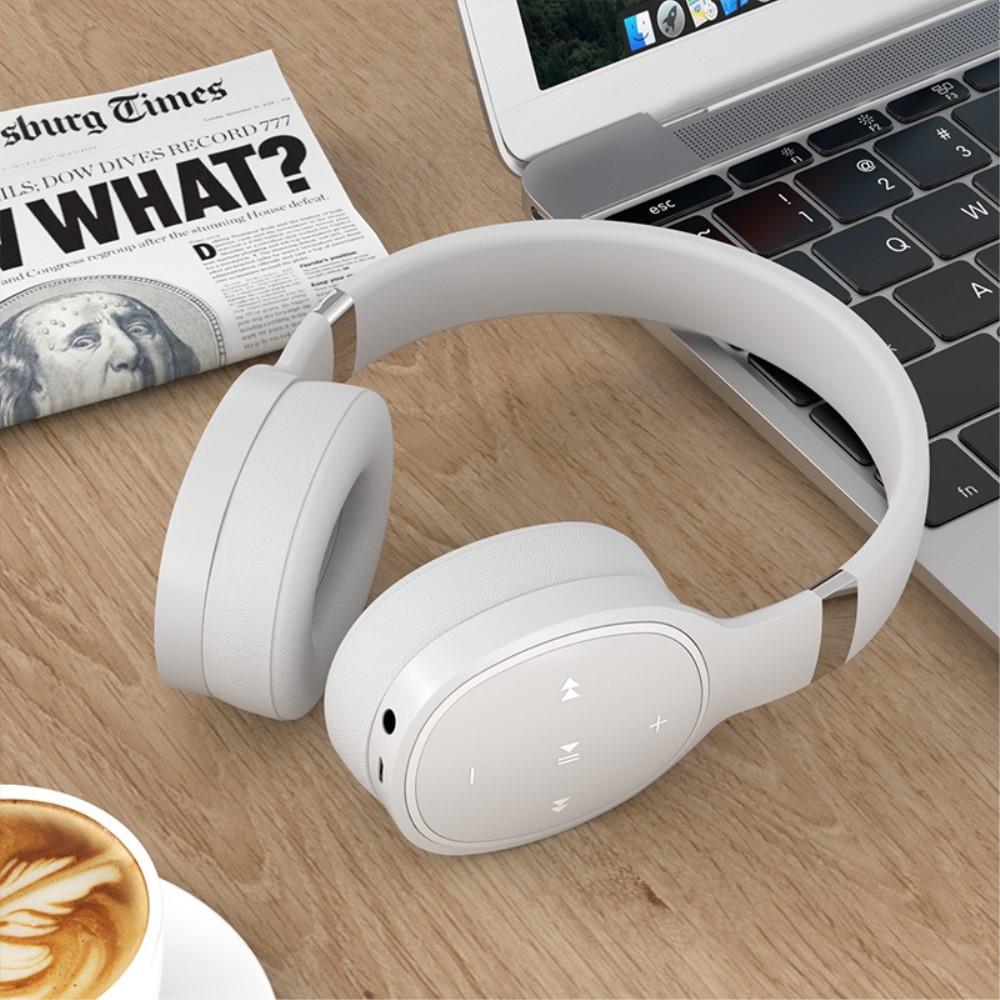 Billede af SHOCK BASS - Trådløse Hørebøffer/høretelefoner - Mikrofon & Kontrolpanel - Hvid