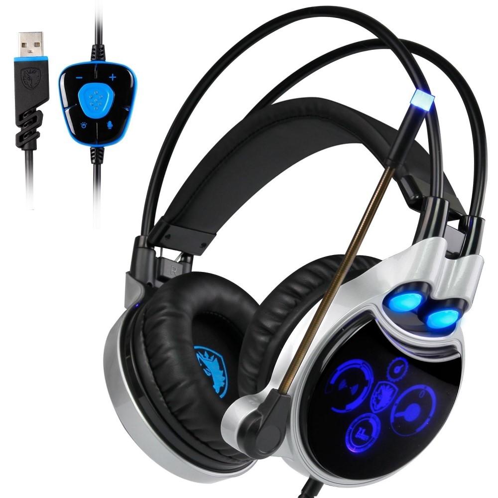 Billede af SADES - GAMING Høretelefoner - 50mm Driver - Stereo Surround 7.1 - Med LED lys - Kabel 2.2m