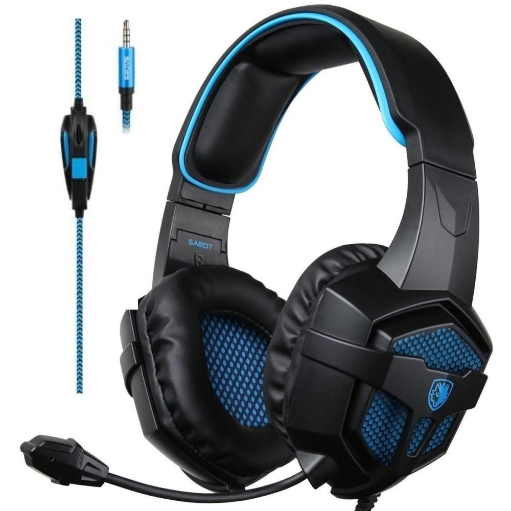 Billede af SADES 807 - Gaming Høretelefoner - Surround Sound 7.1 - Laptop/PS4/Xbox/PC - 3.5mm kabel - 1.5mm