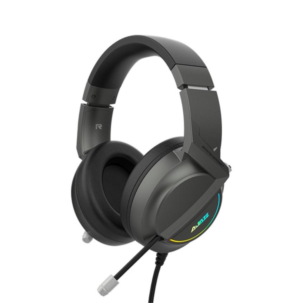 Billede af AJAZZ X365 - GAMING Høretelefoner med LED lys - 50mm Driver - 7.1 Steroe Surround - USB kabel 2.1m - Sort