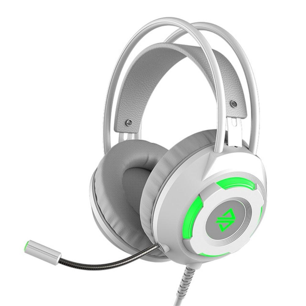 Billede af AJAZZ X120 - GAMING Høretelefoner med LED lys - Noise Cancelling - USB kabel 2.2m - Sølv
