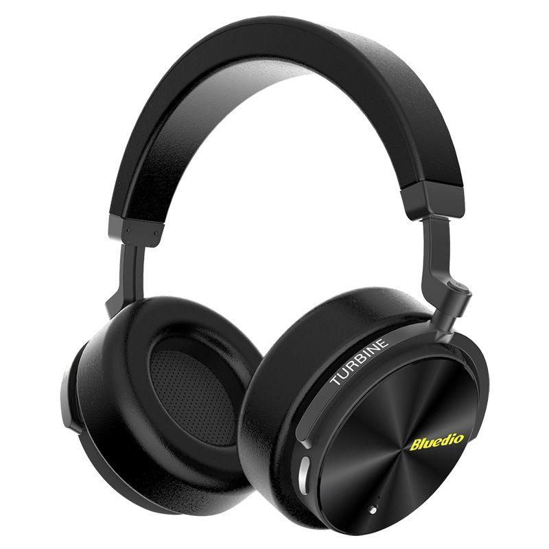 Image of   BLUEDIO T5 - Bluetooth 4.2 Noise Cancelling On-Ear Høretelefoner - Sort