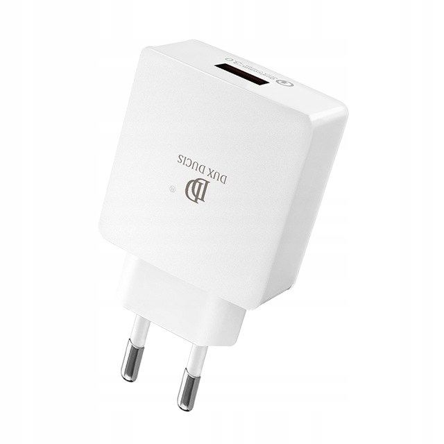 Image of   DUX DUCIS - USB hurtig oplader adapter / Quick charge 3.0 - Hvid