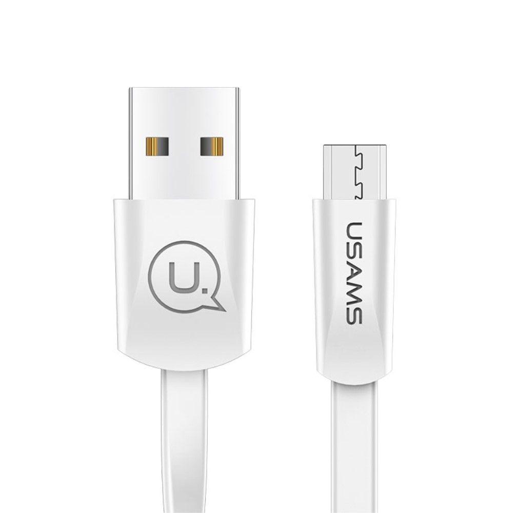 USAMS Micro USB oplader kabel 1.2M - Hvid