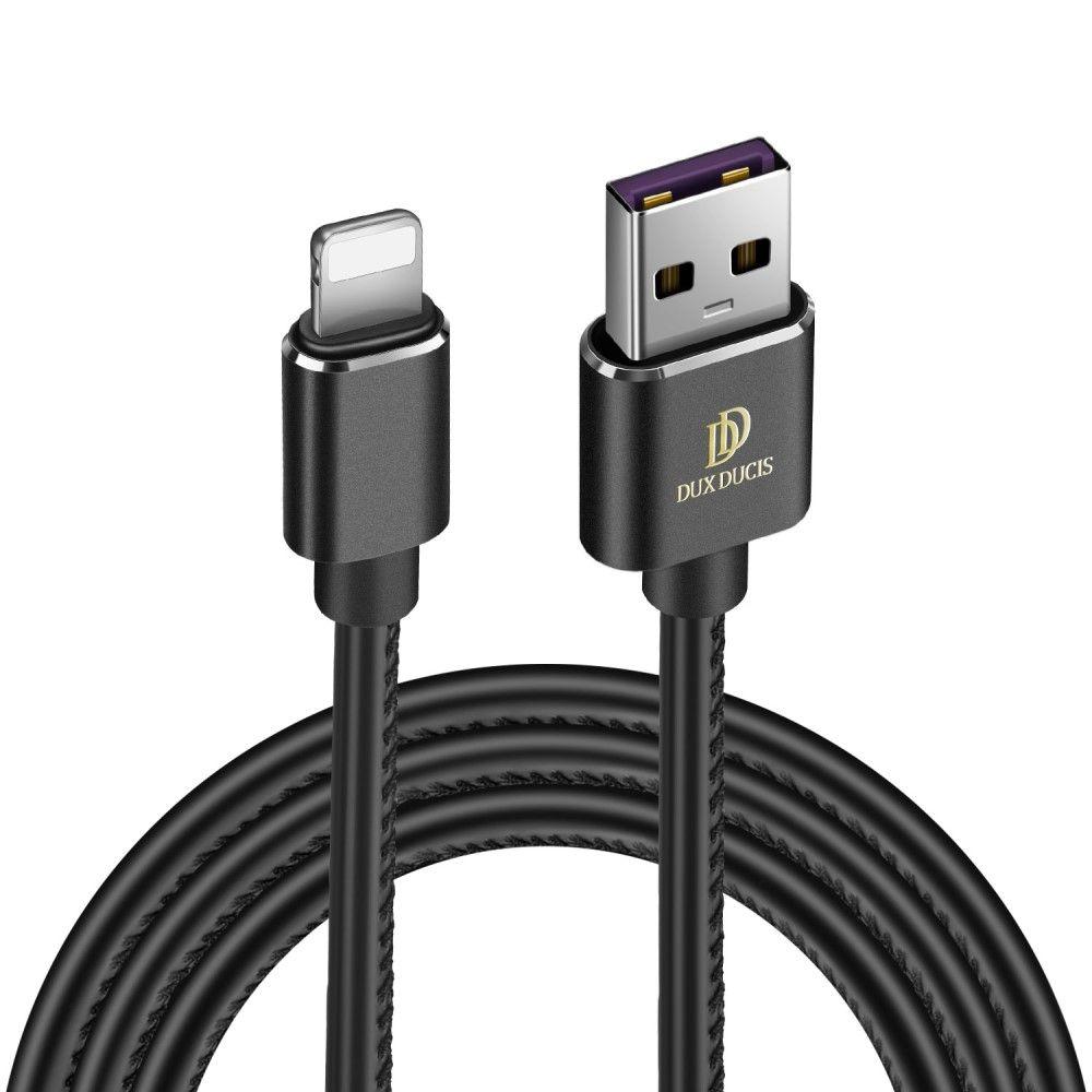 Image of   DUX DUCIS K-MAX Apple Lightning 8 pin oplader kabel 1m - Sort