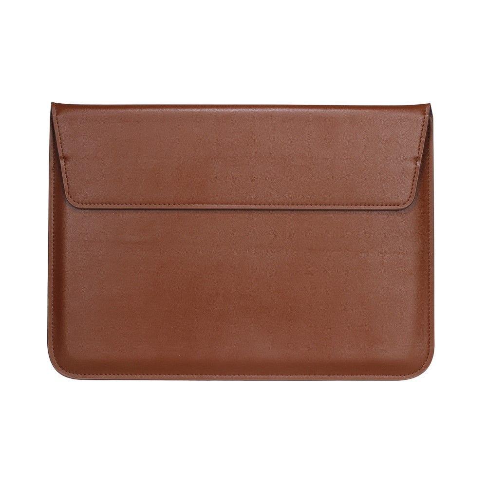 """Image of   MacBook,chromebook notebook mm. 11/12"""" - Læder sleeve/etui - Brun"""