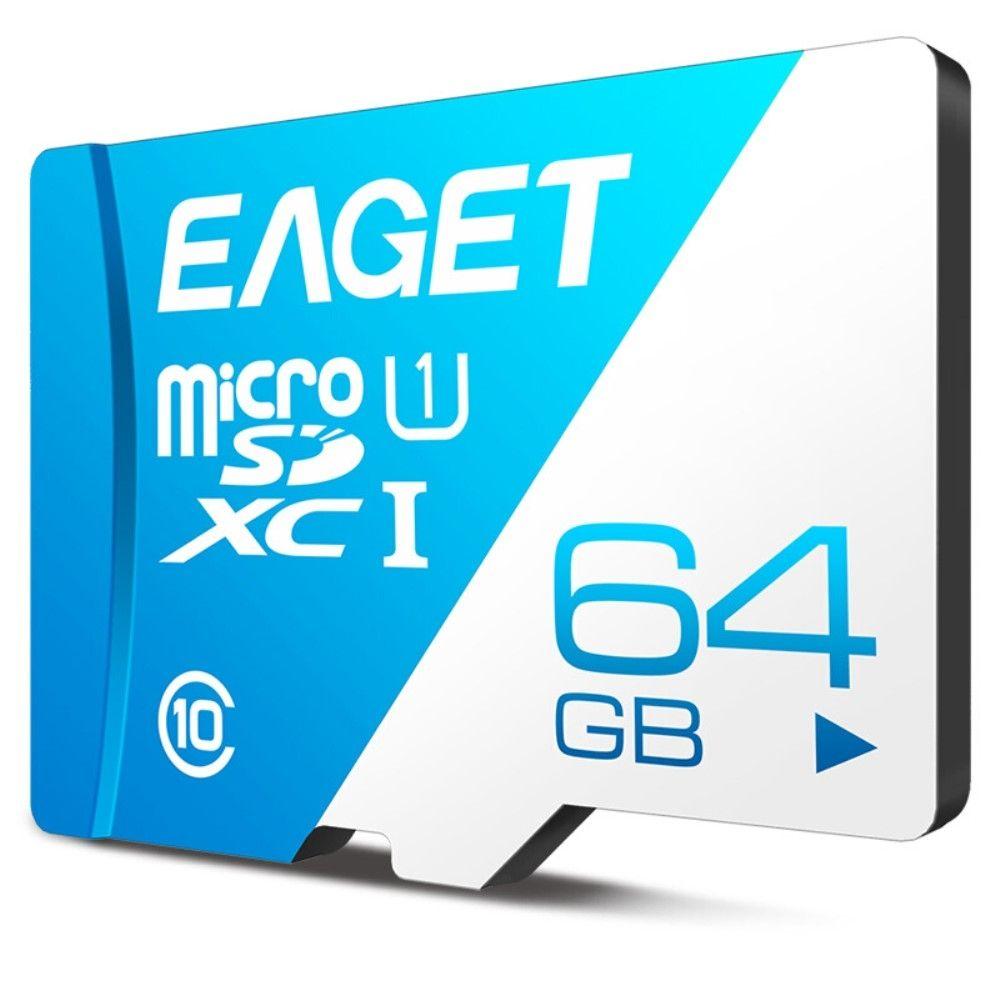 EAGET 64GB Micro SDHC kort Hukommelseskort/memory kort Class 10