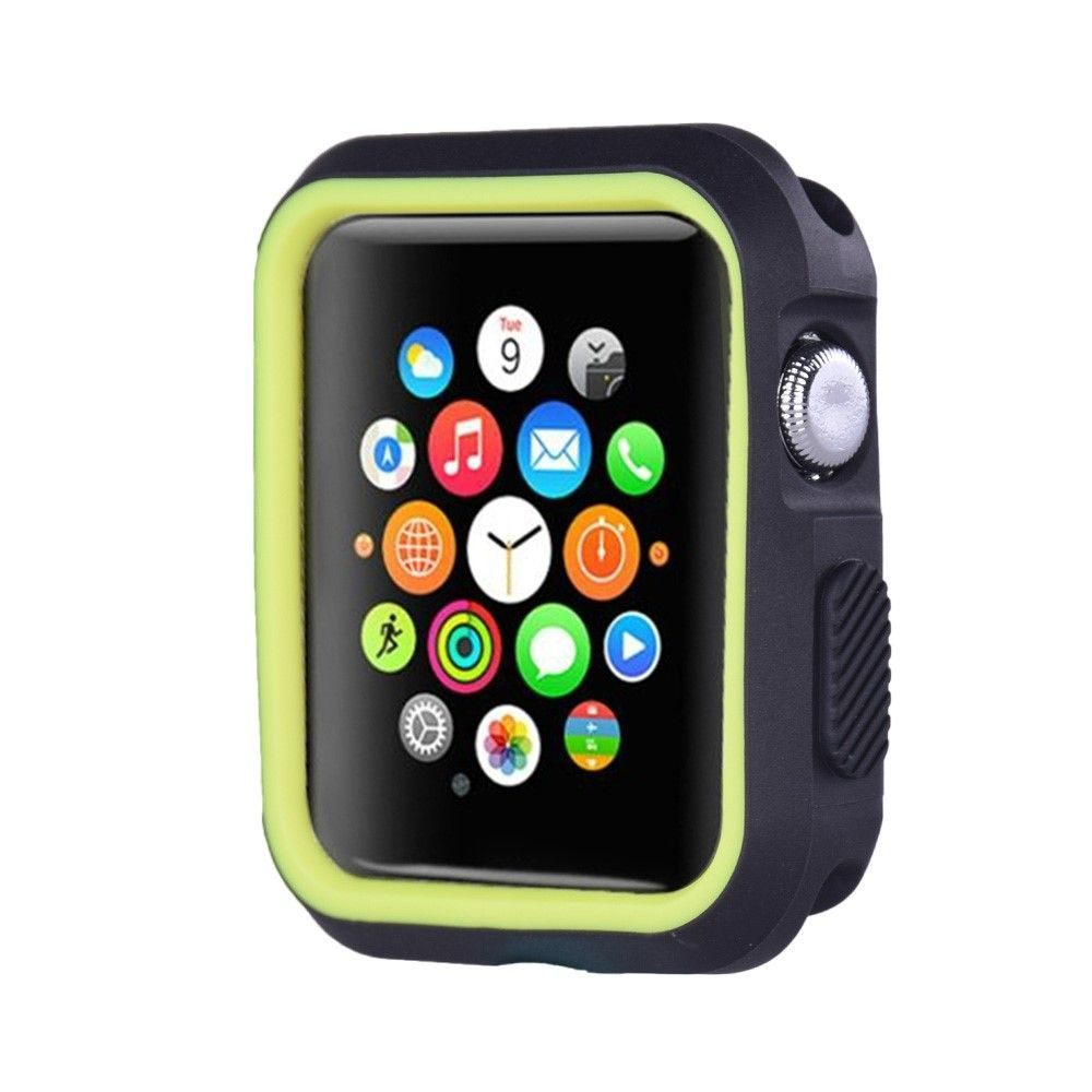 Image of   Apple watch Series 3/2/1 38mm. silikone cover - Sort/grøn