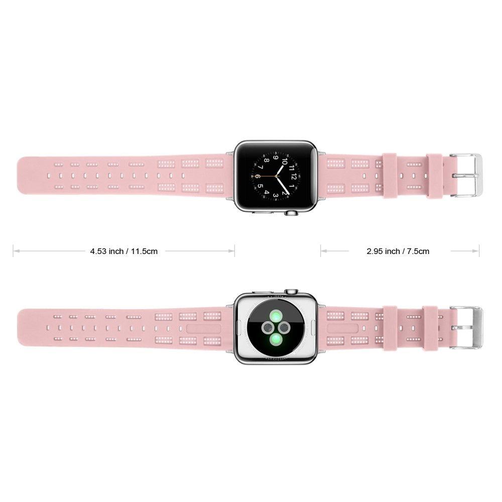 Image of   Apple Watch Series 4/3/2/1 - 40/38mm. - Silikone rem justerbar - Pink