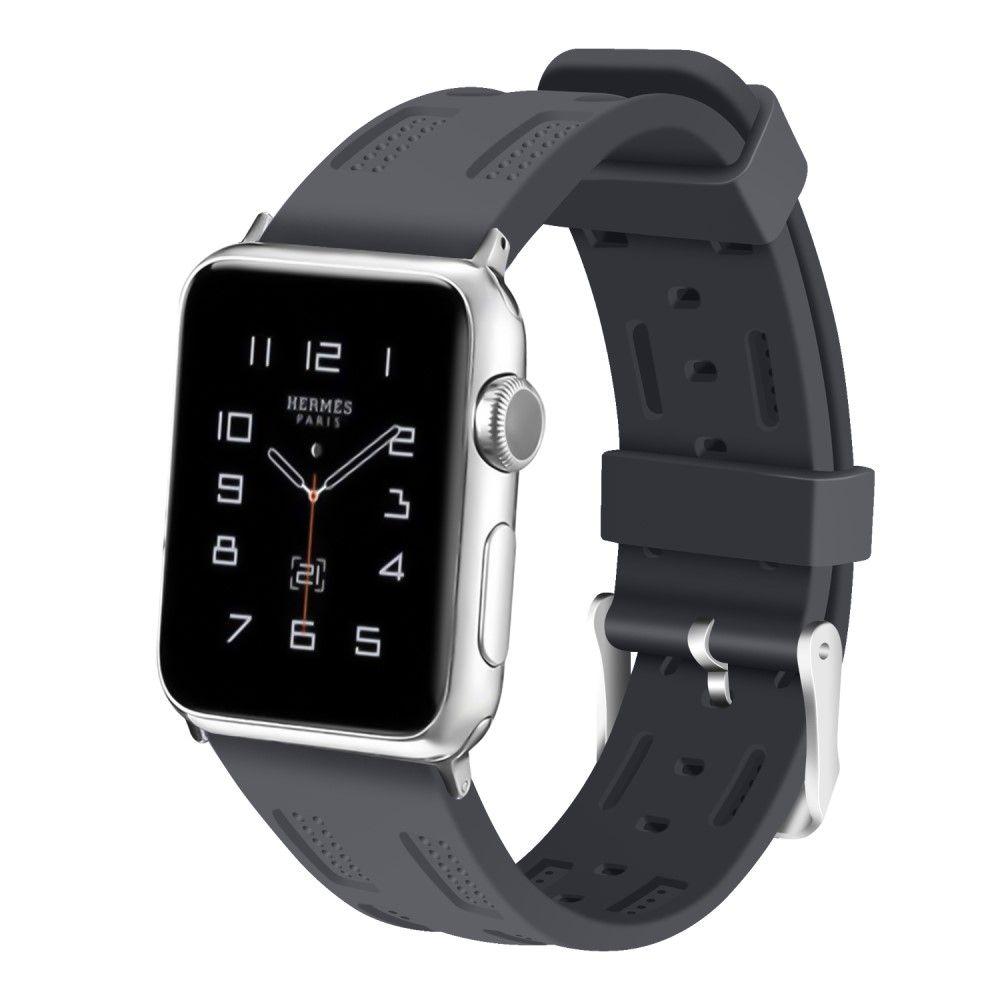 Image of   Apple Watch Series 4/3/2/1 - 44/42mm. - Silikone rem justerbar - Grå