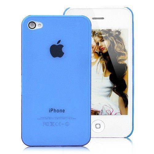Image of   iPhone 4 / 4S Cover Gennemsigtigt - Blå