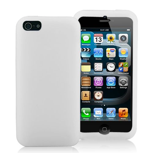 Image of   iPhone 5/5s/SE - Smart Candyfarvet Silicone cover - Hvid