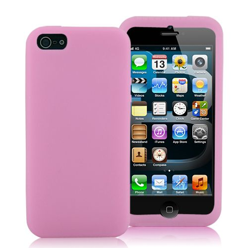 Image of   iPhone 5/5s/SE - Smart Candyfarvet Silicone cover - pink