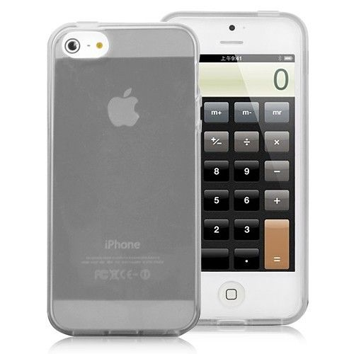 Image of   iPhone 5/5s/SE - Elegant transparent TPU cover - Sort