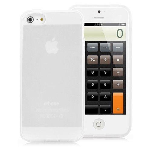 Image of   iPhone 5/5s/SE - Elegant transparent TPU cover - hvid