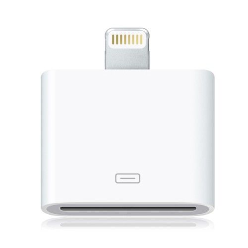 Image of   iPhone 5/5s/SE/iPad 4/iPad mini - Adapter 30 pin til 8 pin - Hvid