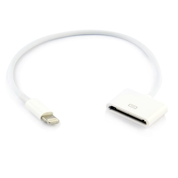 Image of   Apple lightning - Oplader kabel 30 pin til 8 pin - Hvid