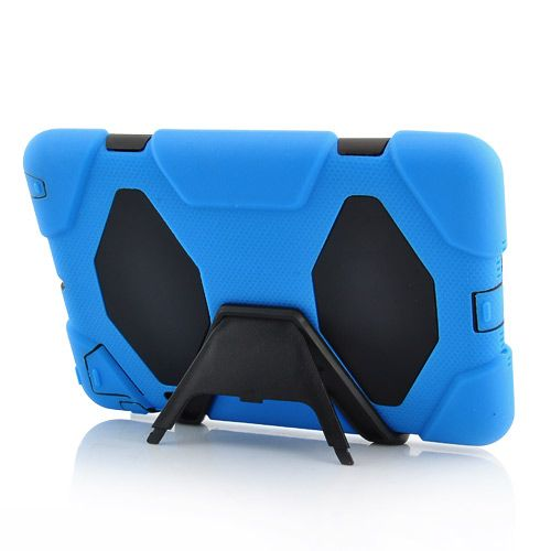 Image of   iPad Mini 1/2/3 - Cool Robot Silikone Stand Hard Cover - Blå