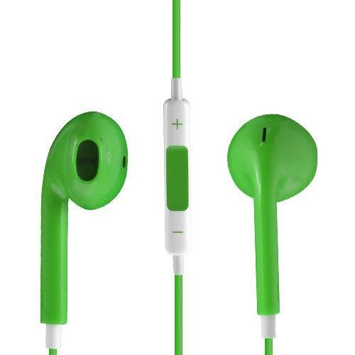 Image of   Høj Kvalitet Høretelefon med Mikrofon og Volume knap - Grøn
