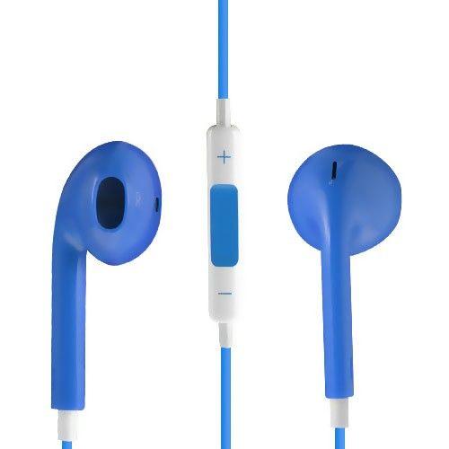 Image of   Høj Kvalitet Høretelefon med Mikrofon og Volume knap - Blå