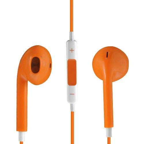 Image of   Høj Kvalitet Høretelefon med Mikrofon og Volume knap - Orange