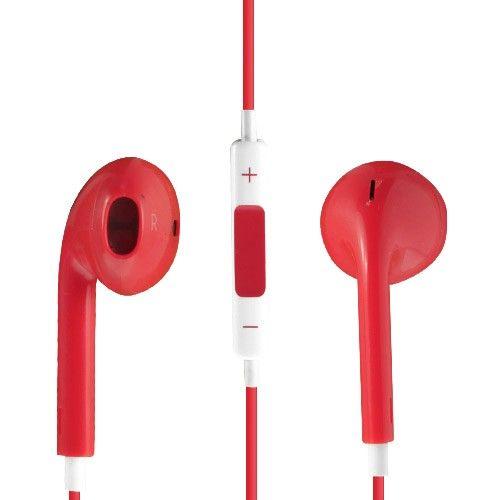 Image of   Høj Kvalitet Høretelefon med Mikrofon og Volume knap - Rød