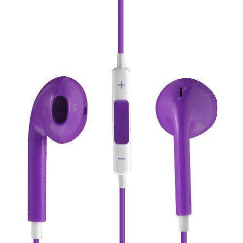 Image of   Høj Kvalitet Høretelefon med Mikrofon og Volume knap - Lilla