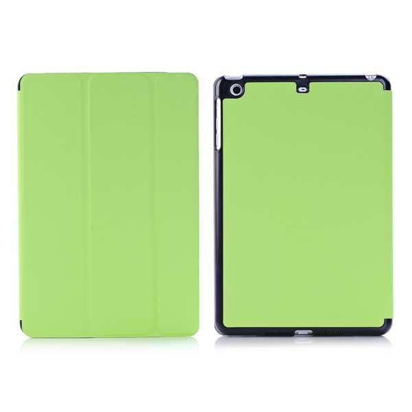 iPad mini 1/2/3 - Sammenfoldelig PU Læder Cover med Sleep/Wake - Fluorescerende Grøn