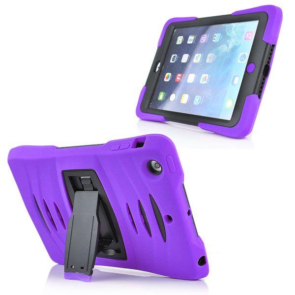 Image of   iPad Mini 1/2/3 - 3 i 1 Stødsikker Silikone og Plastik Cover Etui - Lilla